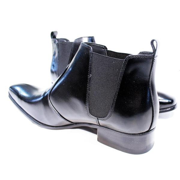 ビジネスカジュアルブーツ 本革日本製Fascination Bootsサイドゴアブーツ,結婚式シューズ