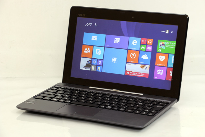 タブレットPC WPS Office付き ASUS TransBook T100TA-GRAY-S Atom Z3775 1.46GHz 2GB 500GB SSD 32GB Win8.1 Bluetooth タッチパネル 3ヶ月保証【あす楽】【中古】【消費税込】【送料・代引手数料無料】