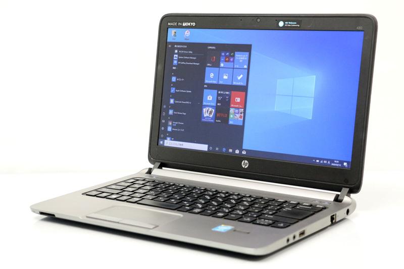 【テレワーク 在宅勤務におススメ】WEBカメラ搭載 中古 ノートパソコン Windows10 HP ProBook 430 G1 Core i5 4200U 1.60GHz メモリ 4GB SSD 256GB Bluetooth カメラ HDMI 3ヶ月保証【中古】【消費税込】【送料・代引手数料無料】