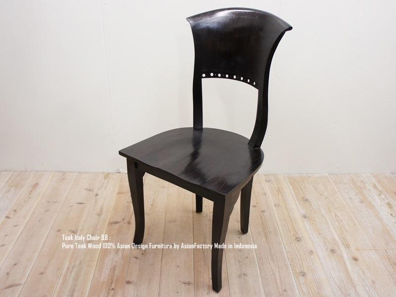 [ポイント10倍]チーク無垢材 イタリーチェア DB ダークブラウン ダイニングチェア アジアン家具 椅子 ハイバックチェア 木製いす 天然木イス バリ家具 送料無料 ウォールナット・マホガニーに並ぶ高級木材 業販 卸