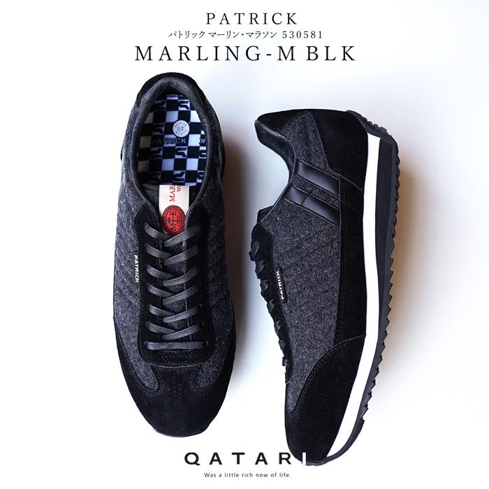 パトリック スニーカー マーリン・マラソン ブラックPATRICK MARLING-M BLK 530581パトリック メンズ レディース 2018A/W限定モデル マーリン&エヴァンス