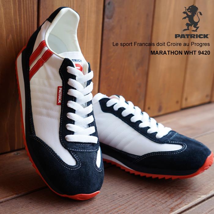 【靴紐通し済】パトリック スニーカー マラソン ホワイト PATRICK MARATHON WHT 9420パトリック メンズ レディース 定番モデル
