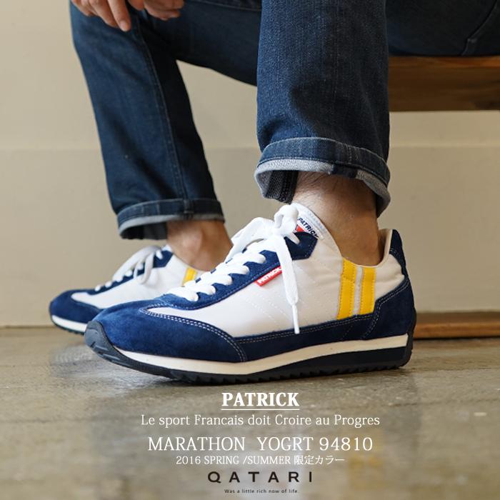 【靴紐通し済】パトリックスニーカー マラソン ヨーグルトPATRICK MARATHON YOGRT 94810パトリック メンズ レディース 2016S/S限定モデル