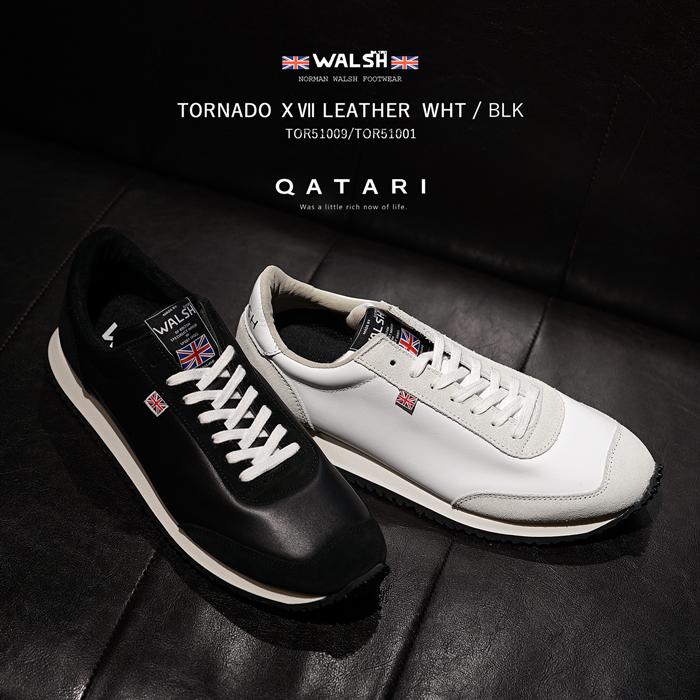 ウォルシュ スニーカー トルネード17 レザー ブラック ホワイトWALSH TORNADO 17 LEATHER WHT BLK TOR51001/TOR51009