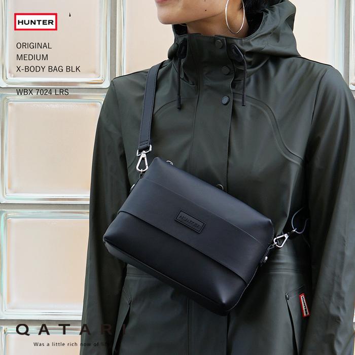 【雨の日にも安心】ハンター ミディアムクロスボディバッグ ブラックHUNTER ORIGINAL MEDIUM X-BODY BAG BLK WBX7024LRS レインブーツ