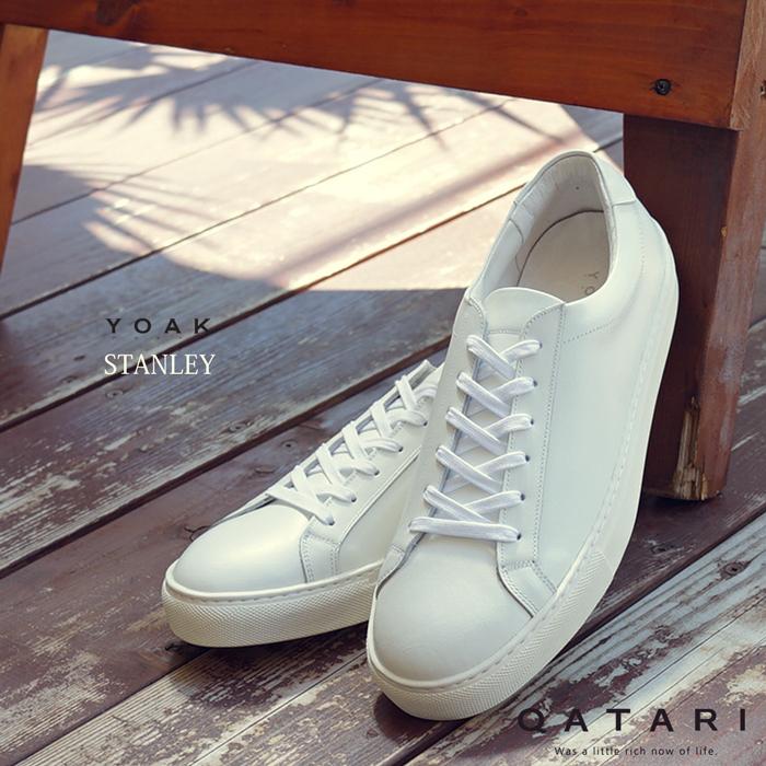 ポイント5倍YOAK STANLEY ヨーク スタンレー送料無料 ホワイト スニーカー メンズレディース日本製