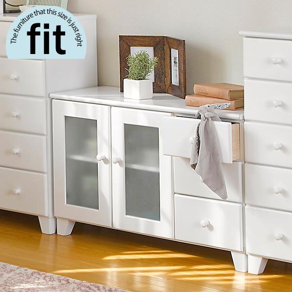 【完成品】 リビングボード 白 ホワイト【-fit-フィット】(リビング キャビネット 収納棚 収納家具 木製 リビング収納 おしゃれ シンプル 新生活 白家具)
