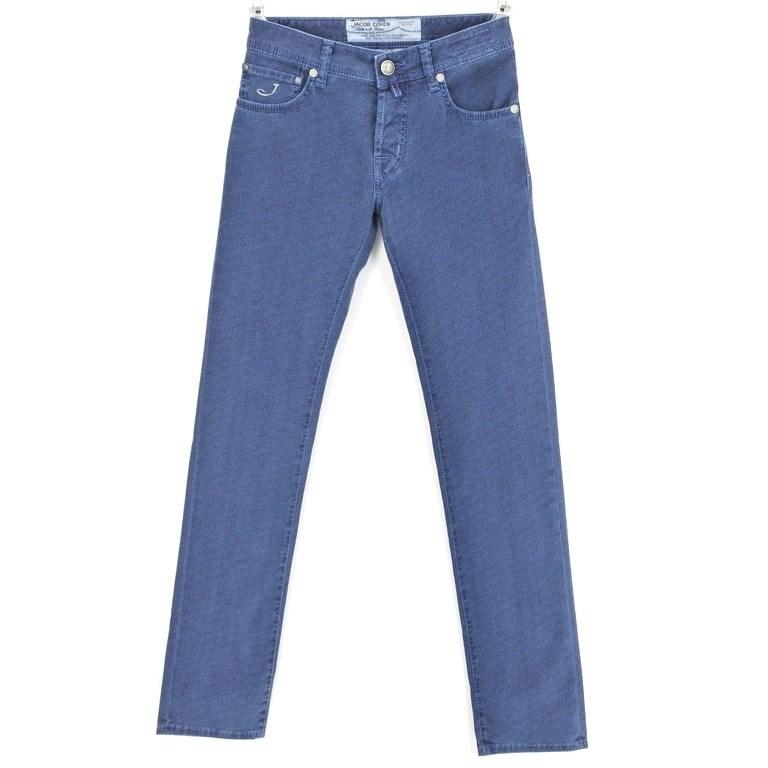 【新品】ヤコブコーエン JACOB COHEN PW622 ストレッチコットン 5ポケットパンツ ブルー×ブラック【サイズ28】【BLU】【S/S/A/W】【状態ランクN】【メンズ】【10904-956697】