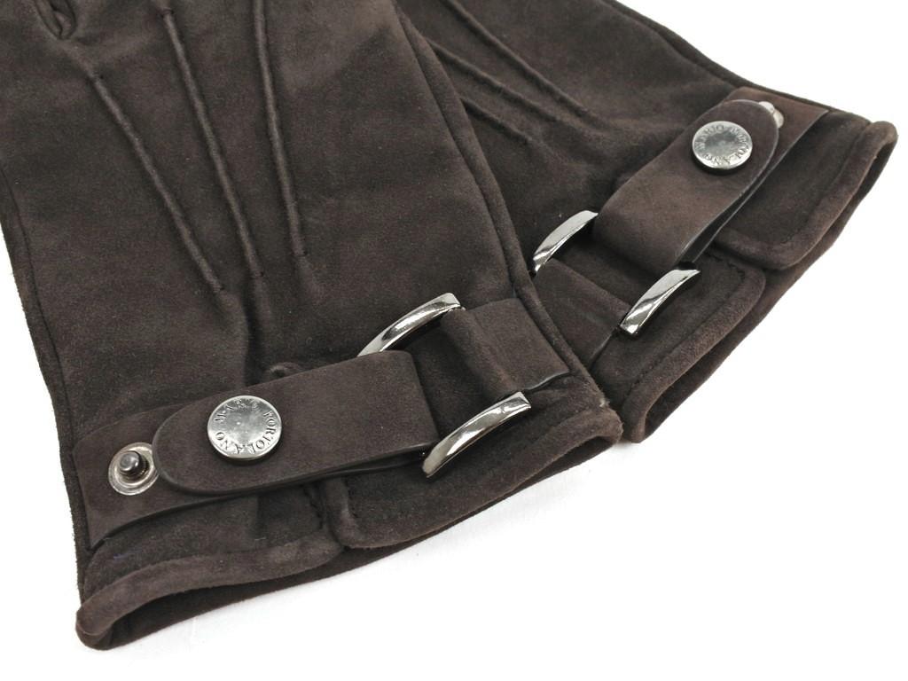 マリオポルトラーノ MARIO PORTOLANO ヌバックレザー カシミアライニング グローブ 手袋 ダークブラウン サイズ7 1 2BRWA W状態ランクBメンズ19908 9566021万円以上送料無料SUzpVqM