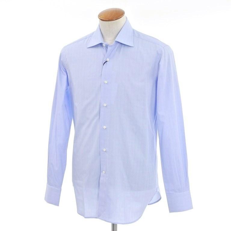 【中古】【未使用】オリアン ORIAN グレンチェック ワイドカラー ドレスシャツ ブルー×ホワイト【サイズ39】【BLU】【S/S/A/W】【状態ランクS】【メンズ】【10602-956584】【1万円以上送料無料】