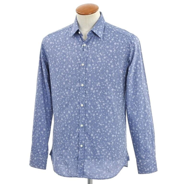 【SALE】【返品不可】【新品】ギローバー GUY ROVER 総柄 カジュアルシャツ スモークブルー【サイズ39】【BLU】【S/S/A/W】【状態ランクN】【メンズ】【10602-956164】【1万円以上送料無料】