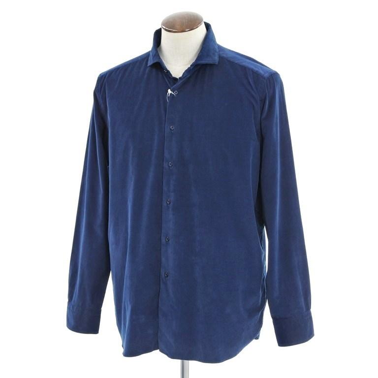【新品】ギローバー GUY ROVER コーデュロイ ホリゾンタルカラーシャツ ネイビー【サイズXXL】【NVY】【S/S/A/W】【状態ランクN】【メンズ】【10602-956164】【1万円以上送料無料】