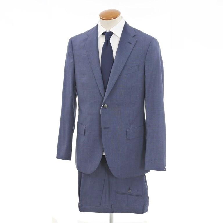 【新品】ボリオリ BOGLIOLI SFORZA ウール 2つボタンスーツ ブルー×ネイビー【サイズ50】【BLU】【S/S】【状態ランクN】【メンズ】【10401-956485】【2008CPD】