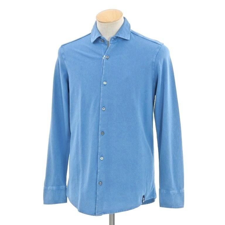 【新品】ドルモア Drumohr 鹿の子コットン カジュアルシャツ ブルー【サイズS】【BLU】【S/S/A/W】【状態ランクN】【メンズ】【10602-956441】【2005BPD】