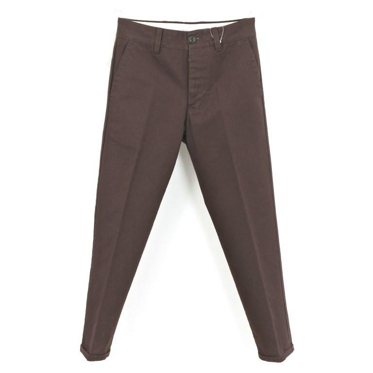 【新品】ピーティーゼロウーノ PT01 FORWARD Style:04 コットン スラックスパンツ ダークブラウン【サイズ28】【BRW】【S/S/A/W】【状態ランクN】【メンズ】【10904-956349】【1912APD】