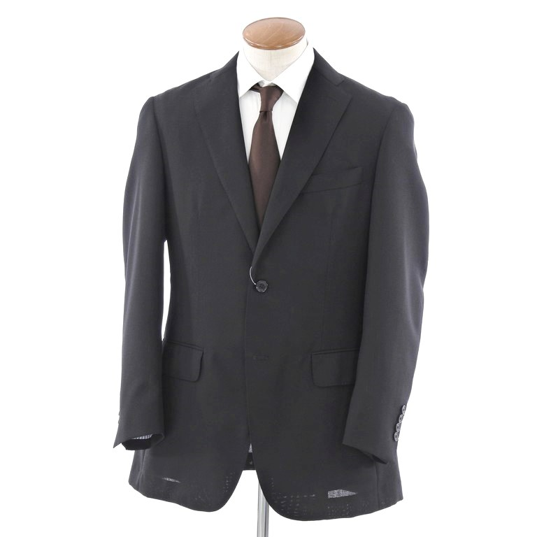 【中古】チェスターバリー Chester Barrie ウールモヘア 2Bテーラードジャケット ブラック【サイズ38】【BLK】【S/S】【状態ランクB】【メンズ】【10101-956319】