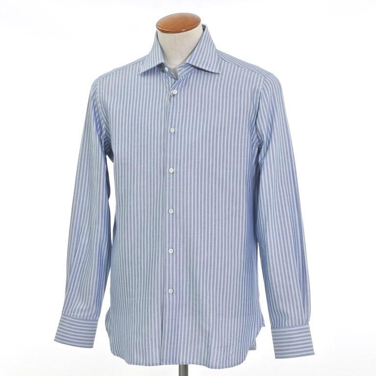 【SALE】【返品不可】【新品】ギローバー GUY ROVER ストライプ ワイドカラー ドレスシャツ ライトネイビー×ライトブルー【サイズ40】【NVY】【S/S/A/W】【状態ランクN】【メンズ】【10601-956266】【1万円以上送料無料】【1912APD】