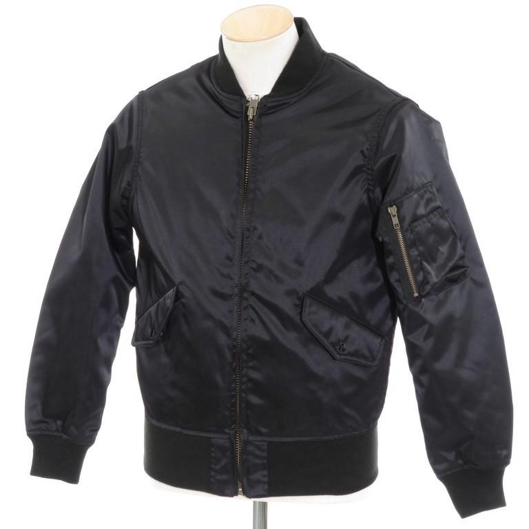 【中古】【未使用】ヒューストン HOUSTON ナイロン フライトジャケット MS-1 ブラック【サイズ36】【BLK】【A/W】【状態ランクS】【メンズ】【10602-956126】