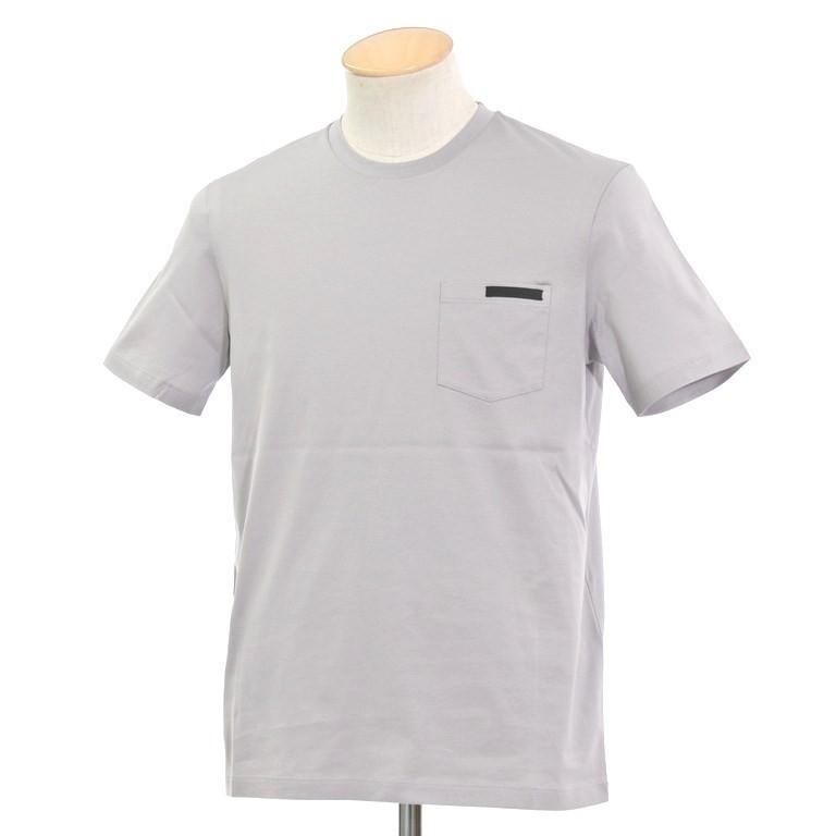 【中古】【未使用】プラダ PRADA ポケット 半袖Tシャツ ウォームグレー【サイズXS】【GRY】【S/S】【状態ランクS】【メンズ】【10702-956105】