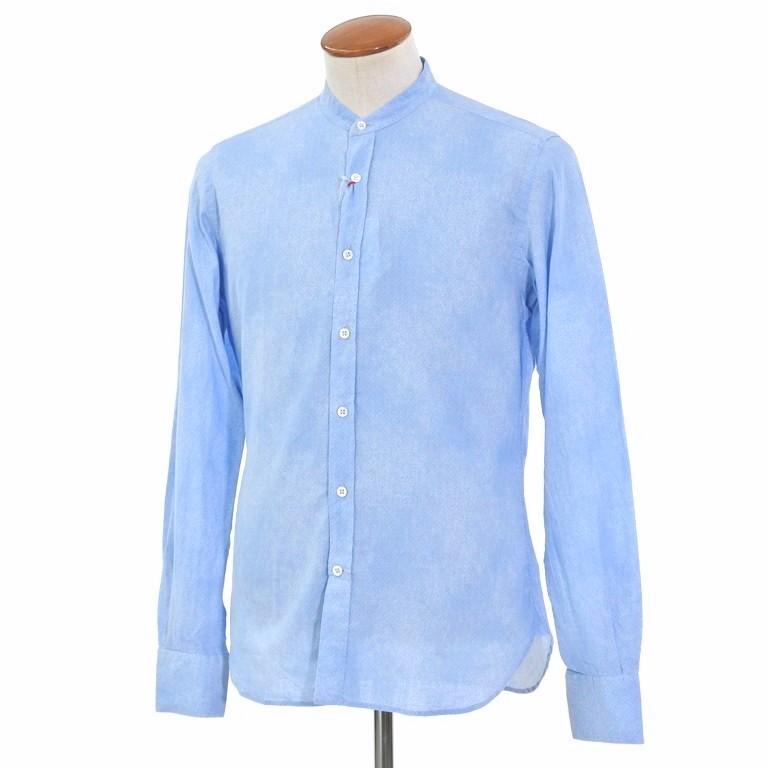 【新品】グランシャツ Glanshirt コットン×リネン バンドカラー シャツ ライトブルー【サイズ39】【BLU】【S/S】【状態ランクN】【メンズ】【10602-956097】