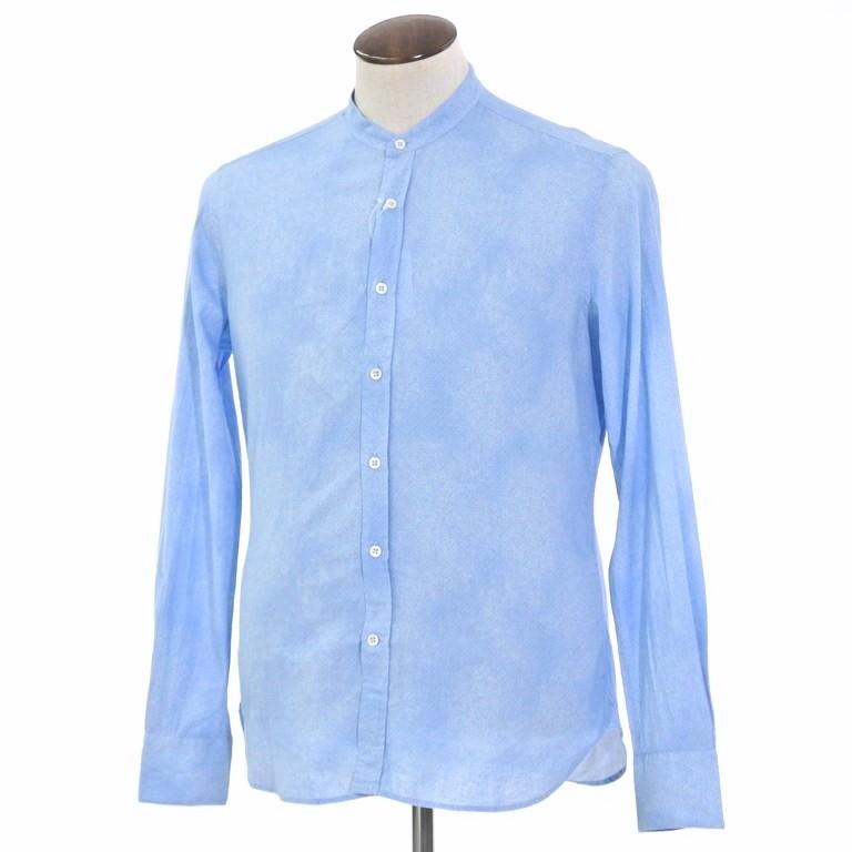 【新品】グランシャツ Glanshirt コットン×リネン バンドカラー シャツ ライトブルー【サイズ41】【BLU】【S/S】【状態ランクN】【メンズ】【10602-956097】