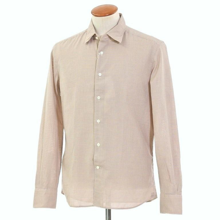【新品】グランシャツ Glanshirt コットン カジュアルシャツ ダークブルー×オレンジ×ホワイト【サイズ40】【BLU】【S/S/A/W】【状態ランクN】【メンズ】【10602-956097】