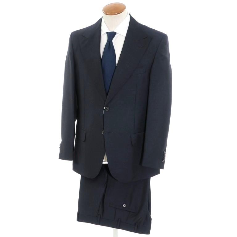 【中古】バランタイン BALLANTYNE モヘアウール 2つボタン スーツ ネイビー【サイズ50】【NVY】【S/S】【状態ランクA】【メンズ】【10401-956085】
