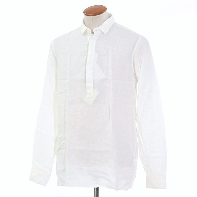 【新品】グランシャツ Glanshirt リネン プルオーバーシャツ ホワイト【サイズ39】【WHT】【S/S】【状態ランクN】【メンズ】【10602-956054】