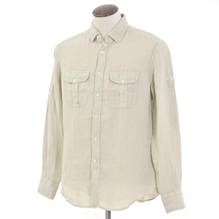 【新品】グランシャツ Glanshirt リネン カジュアルシャツ ベージュ【サイズ42】【BEI】【S/S】【状態ランクN】【メンズ】【10602-956052】