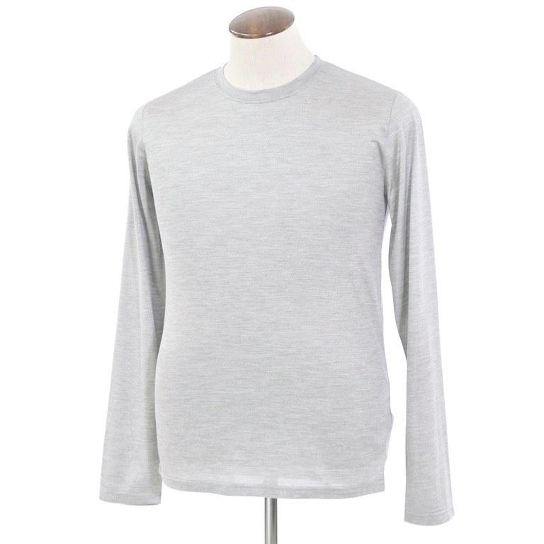 【新品】フェデーリ FEDELI シルク 長袖Tシャツ メランジグレー【サイズ50】【GRY】【S/S】【状態ランクN】【メンズ】【10701-956037】