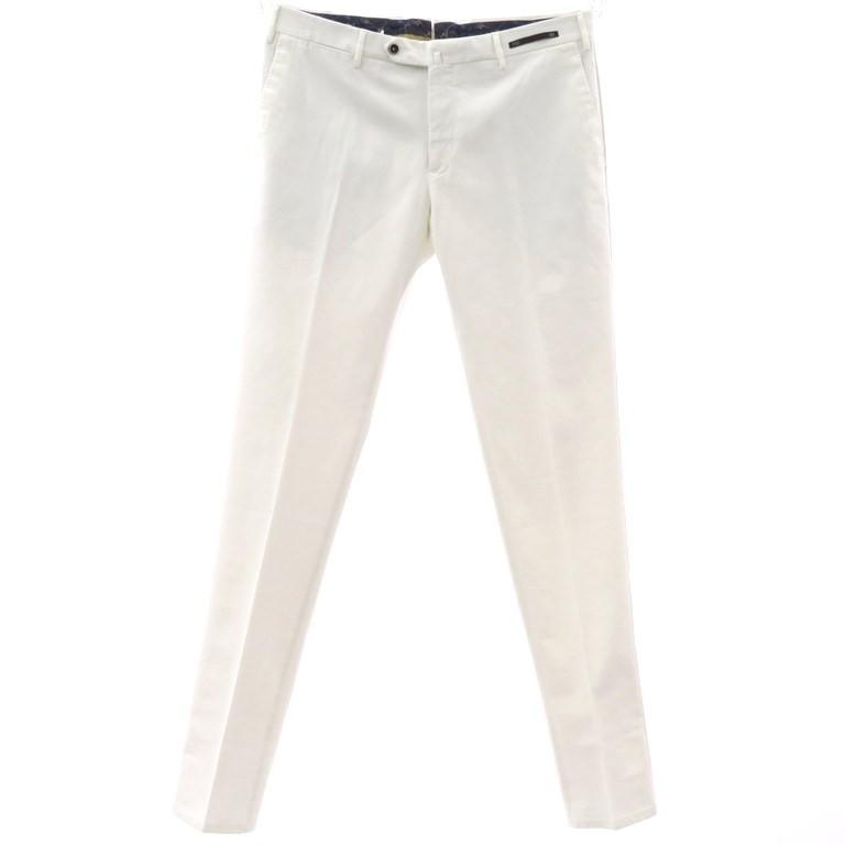 【新品アウトレット】ピーティーゼロウーノ PT01 ストレッチコットン スラックス パンツ ホワイト【サイズ52】【WHT】【S/S】【状態ランクN-】【メンズ】【10902-955999】