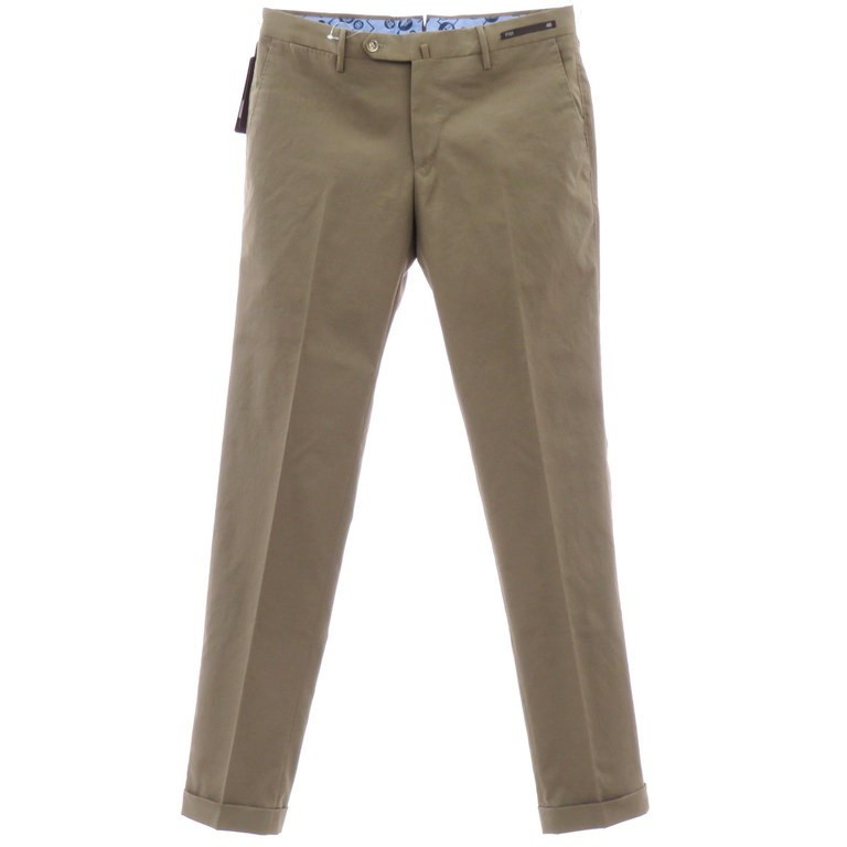 【新品】ピーティーゼロウーノ PT01 ポリエステル カジュアルスラックス パンツ TRAVELLER アッシュブラウン【サイズ46】【BRW】【S/S】【状態ランクN】【メンズ】【10902-955986】
