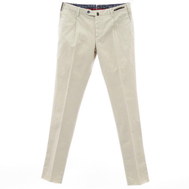 【新品】ピーティーゼロウーノ PT01 ストレッチコットン ワンプリーツ スラックス パンツ Flair サンドベージュ【サイズ50】【BEI】【S/S】【状態ランクN】【メンズ】【10902-955989】