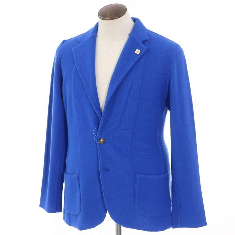 【SALE10%OFF】【返品不可】【新品】ラルディーニ LARDINI ウール 2つボタンニットジャケット ブルー【サイズL】【BLU】【A/W】【状態ランクN】【メンズ】【10102-955940】