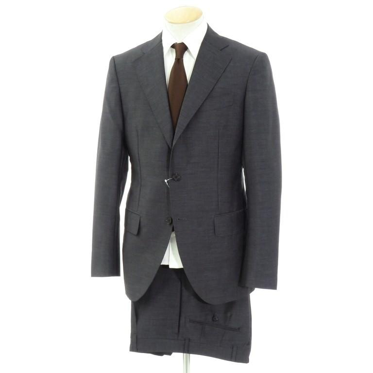 【中古】インベストメント クロージング INVESTMENT CLOTHING モヘアウール 3つボタンスーツ ダークグレー【サイズ表記なし(S位)】【GRY】【S/S】【状態ランクB】【メンズ】【10402-955933】