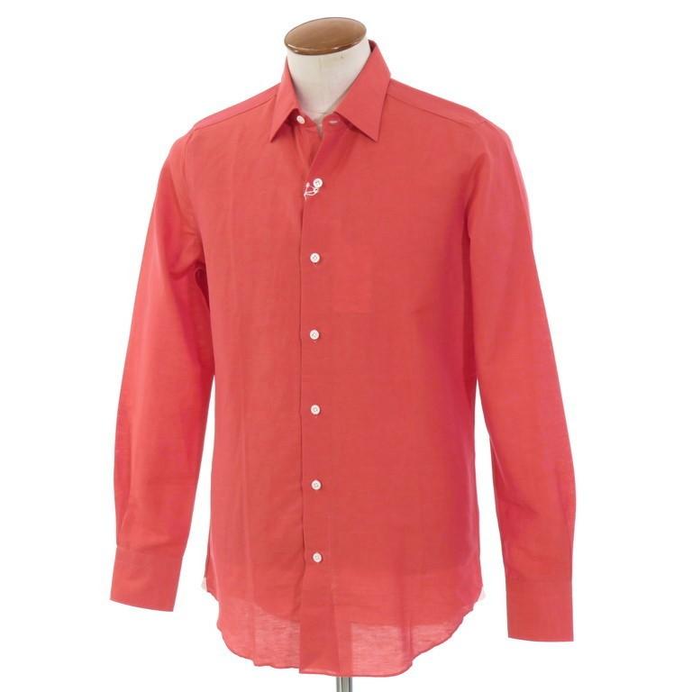 【新品】ベルベスト Belvest コットンリネン レギュラーカラー シャツ オレンジレッド【サイズ39】【ORG】【S/S】【状態ランクN】【メンズ】【10602-955926】
