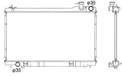 スカイライン CPV35 PV35 M/T 新品 ラジエーター ラジエター 車 車用品 カー用品 新品ラジエーター 日本メーカー