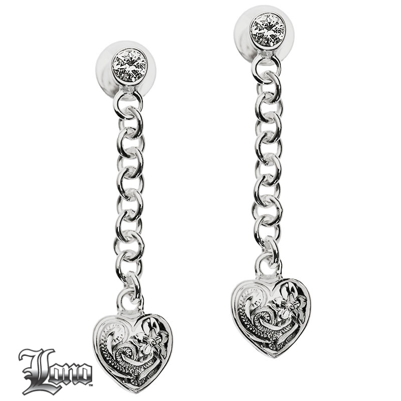 LONO :Dangling Heart Earrings(ロノ・ゆらめくハートピアス)ハワイアンジュエリー【送料無料】