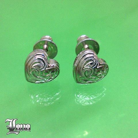 LONO :Studs Heart Earrings(ロノ・ふっくらハートピアス)ハワイアンジュエリー【送料無料】