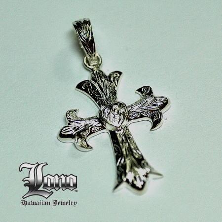 Silver925ハワイアンジュエリーLONO Gothic Heart Cross(ロノ ゴシックハートクロス)【送料無料】