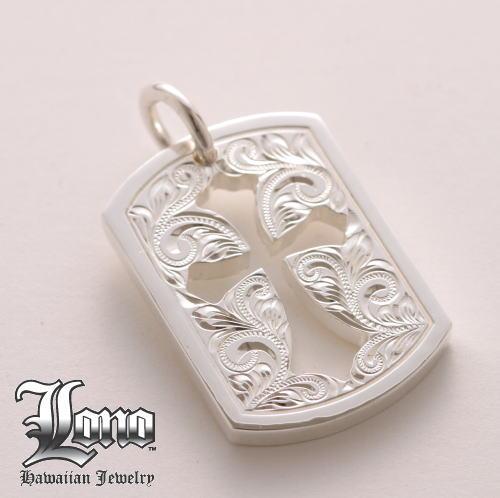 Silver925ハワイアンジュエリーLONO Gothic Cross Plate Cutout(ロノ ゴシックカットクロスプレート)ペンダントヘッド【送料無料】