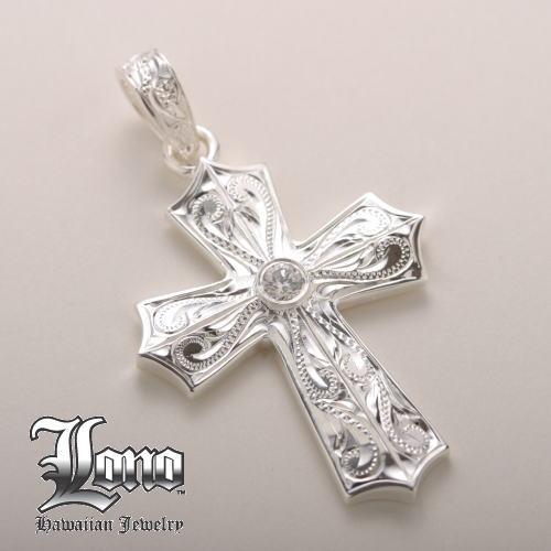 Silver925ハワイアンジュエリーLONO Gothic Island Cross (ロノ ゴシック アイランド クロス)Lサイズ ペンダントヘッド【送料無料】】