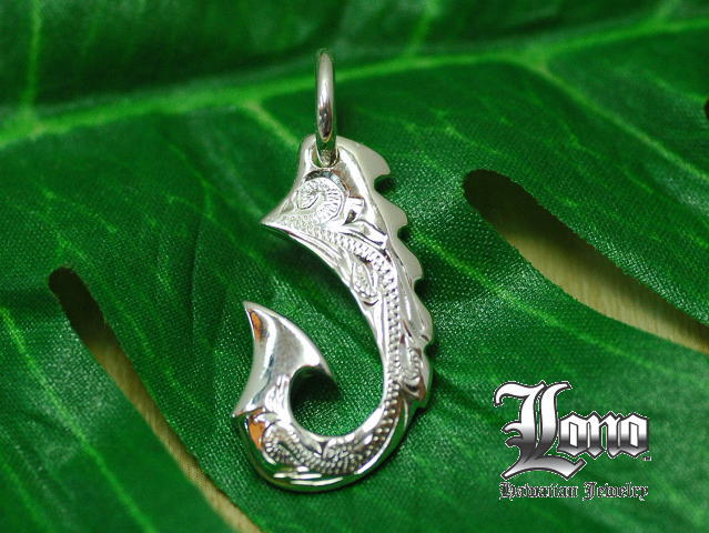 Lono :Fish hook S(Sサイズフィッシュフック)ハワイアンジュエリーペンダントヘッド【送料無料】