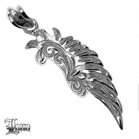 Silver925ハワイアンジュエリーLONOLove Heart Wing B (ロノ・ラヴハートウィング B )ペンダントヘッド【送料無料】