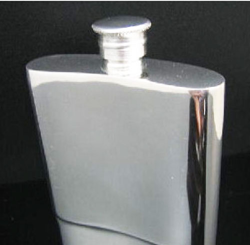 英国製 錫無垢 ウイスキースキットル 3oz