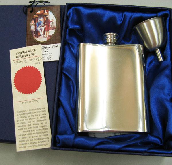 英国製 錫無垢 ウイスキースキットル 4oz