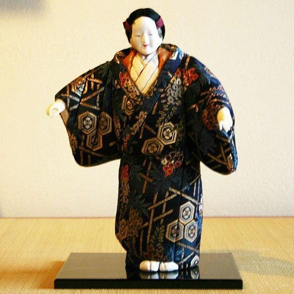 【送料無料!】京製木目込人形 能面