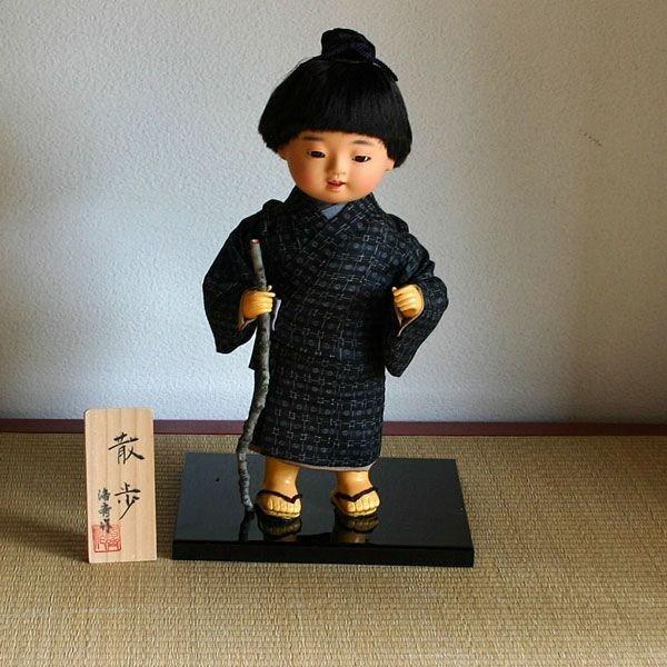 【送料無料!】京製創作衣裳人形 散歩
