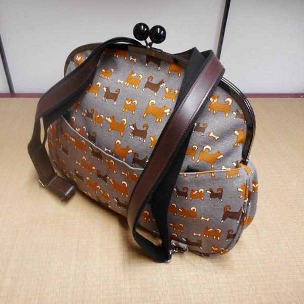 【ギフト】【送料無料!】帆布 2wayバッグ (がま口)