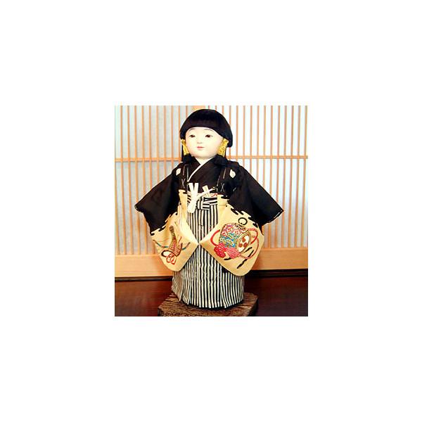 【送料無料!】【松乾斎東光】京製尺二市松人形 (男)